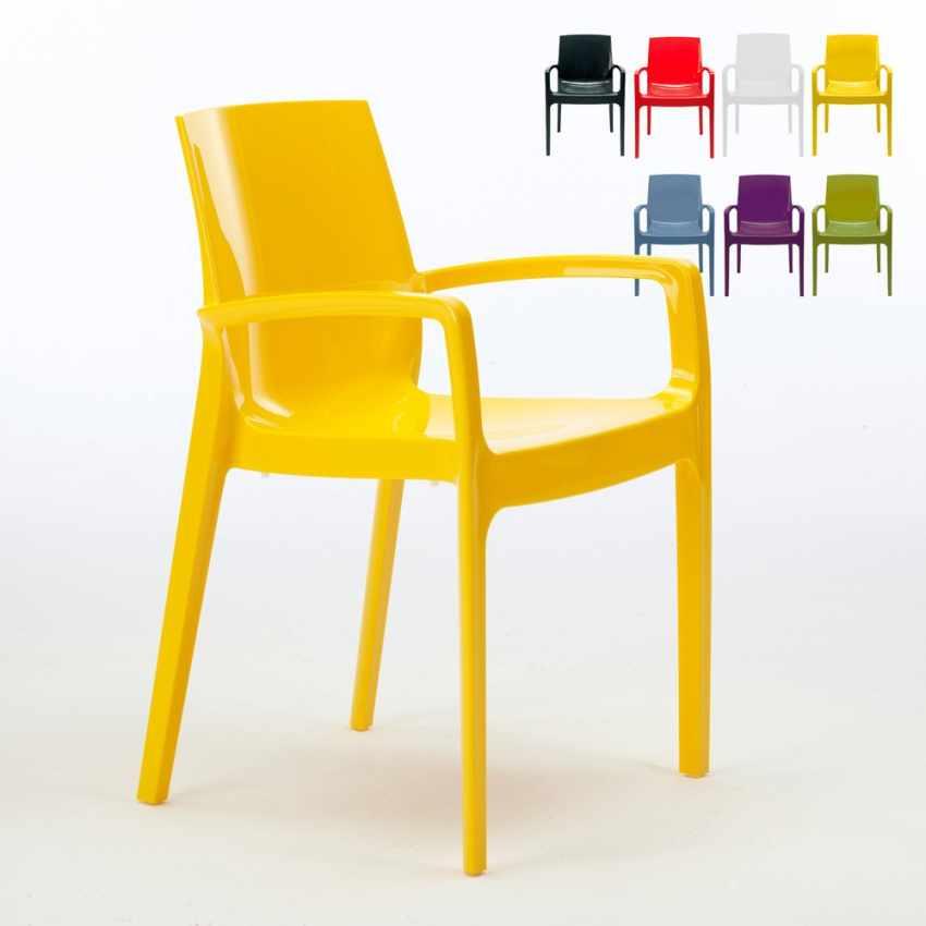 22 Chaises Avec Accoudoirs Pour Restaurant Offre Stock CREAM Grand Soleil