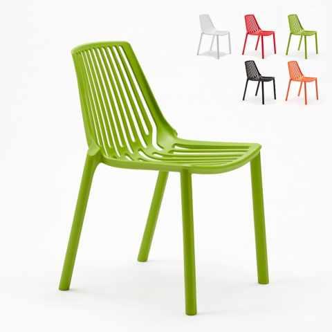 SL677PPA20PZ - Set Stock 20 Chaises intérieur et extérieur restaurant et bar LINE - colorato