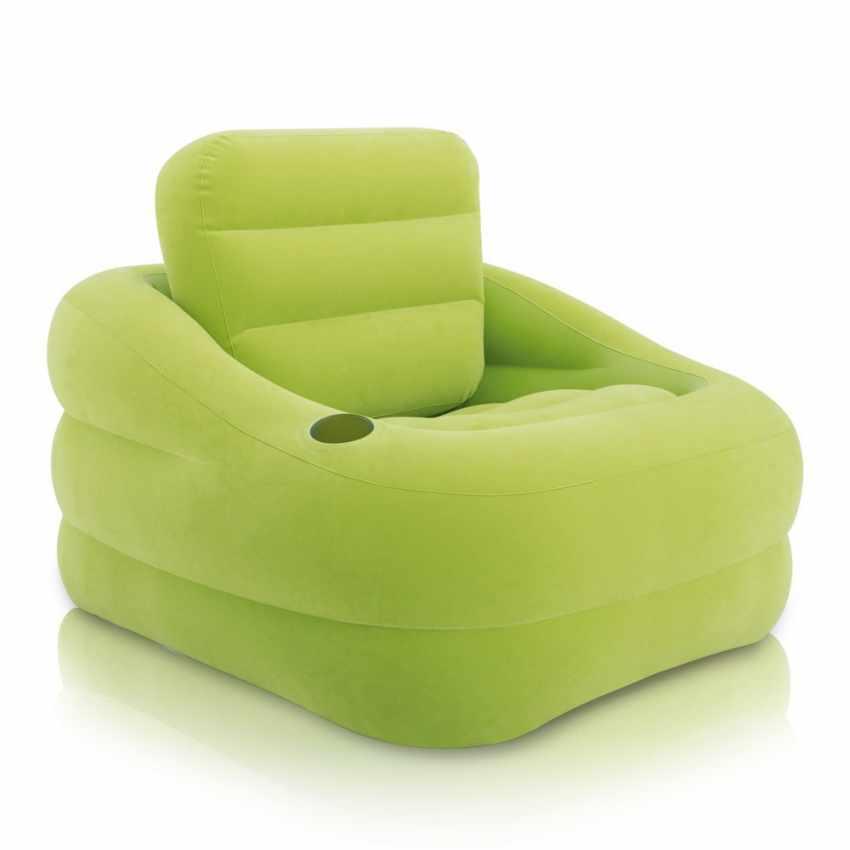 fauteuil gonflable d 39 exterieur jardin bord de piscine intex 68586. Black Bedroom Furniture Sets. Home Design Ideas
