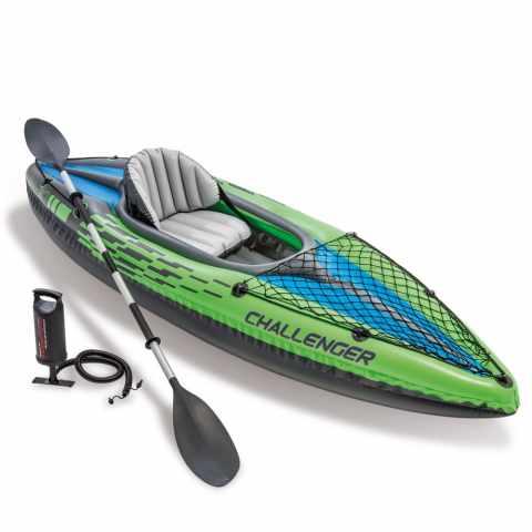 68305 - Canoë Kayak gonflable Intex 68305 Challenger K1 - grigio