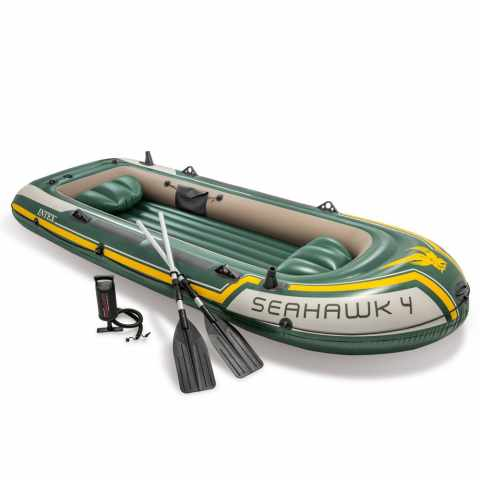 68351 - Canot gonflable Intex 68351 Seahawk 4 bateau Gonflable - giallo