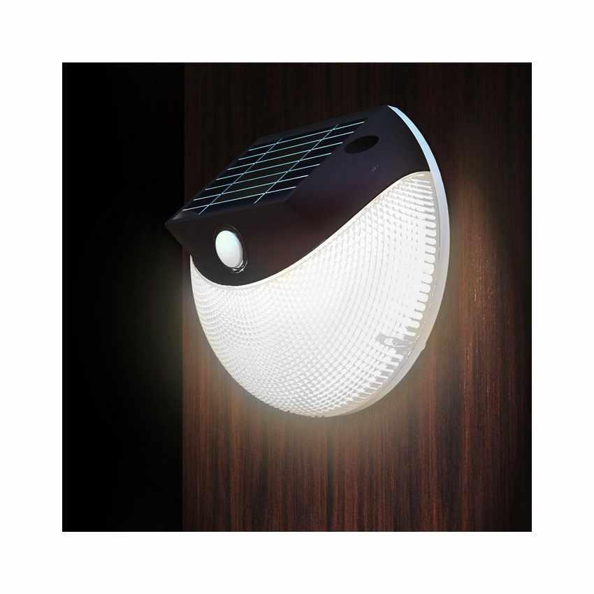 Applique solaire led avec panneau photovoltaique int gr for Lampe solaire murale exterieure