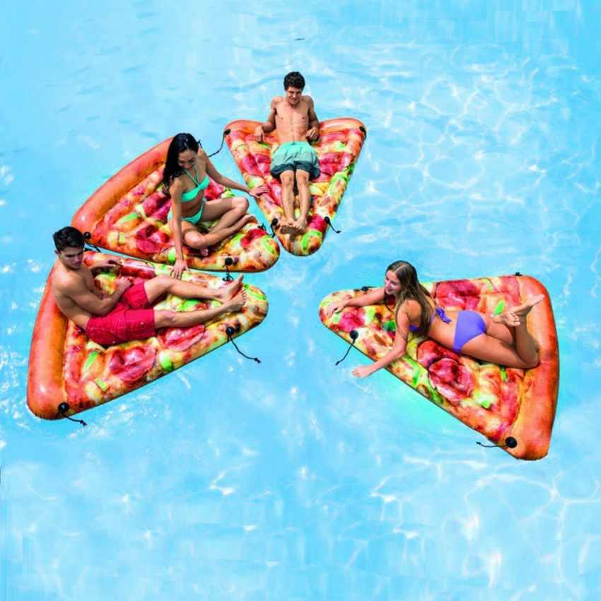 58752 - Matelas Gonflable Intex 58752 Pizza Piscine - rosso