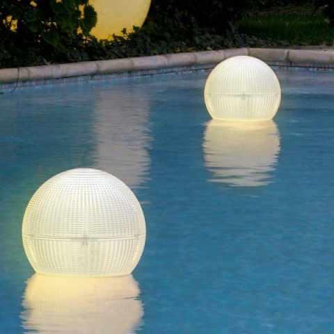 VL100LED - Lanterne Led Solaire lampe flottante à sphère GLOBE - colorato
