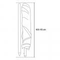 Parasol de plage 200 cm aluminium anti-vent protection UV CORSICA - immagine