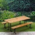 Table de brasserie bancs en bois jardin pliant festival 220x80 - venta