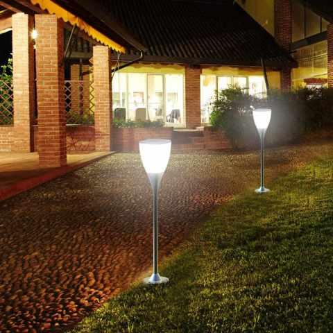 LA016LED - Réverbère lampe solaire jardin LED extérieure SUNWAY - giallo