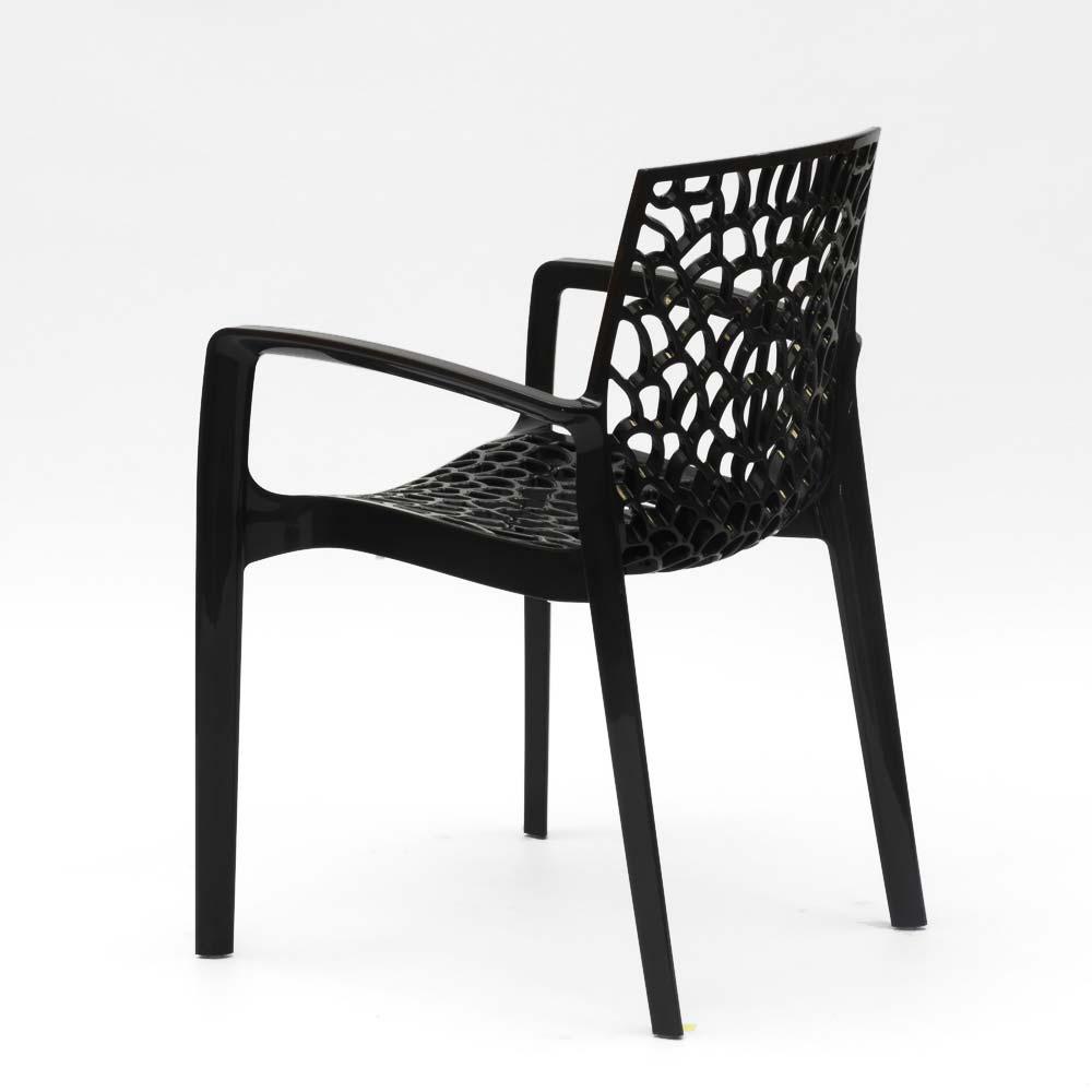 Chaise pour jardin café avec accoudoirs en polypropylène