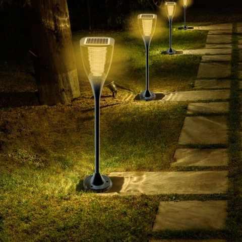 VL016LED - Réverbère lampe solaire jardin LED extérieure VILLA - azzurro