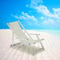 Transats chaises de plage avec accoudoirs piscine aluminium RICCIONE LUX 2 pcs - vendita