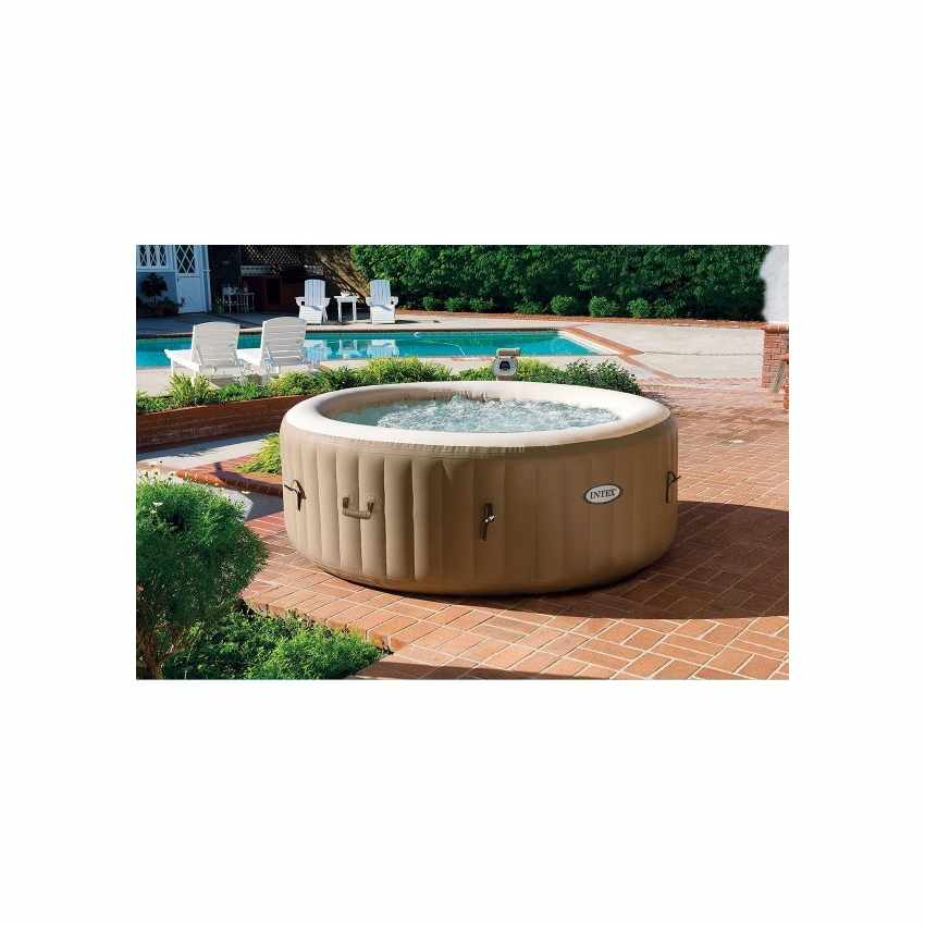 hydromassage jacuzzi gonflable intex 28404 bubble spa rond 196x71. Black Bedroom Furniture Sets. Home Design Ideas