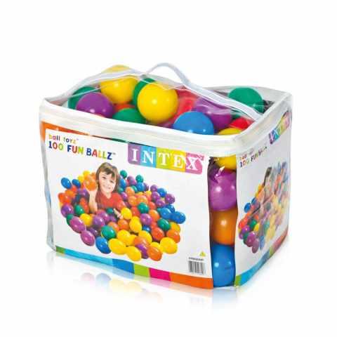 49600 - Boules Colorés en plastique jeu Intex 49600 fun Ballz 8 cm, set de 100 pièces - blu