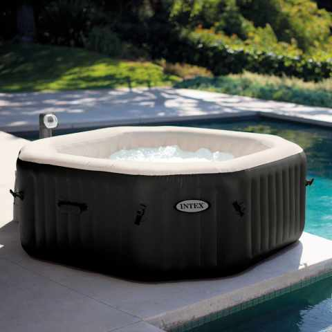 28454 - Hydromassage Jacuzzi gonflable Intex 28454 Jet de Bubble spa rectangulaire 201x71 generateur chlore - promozione