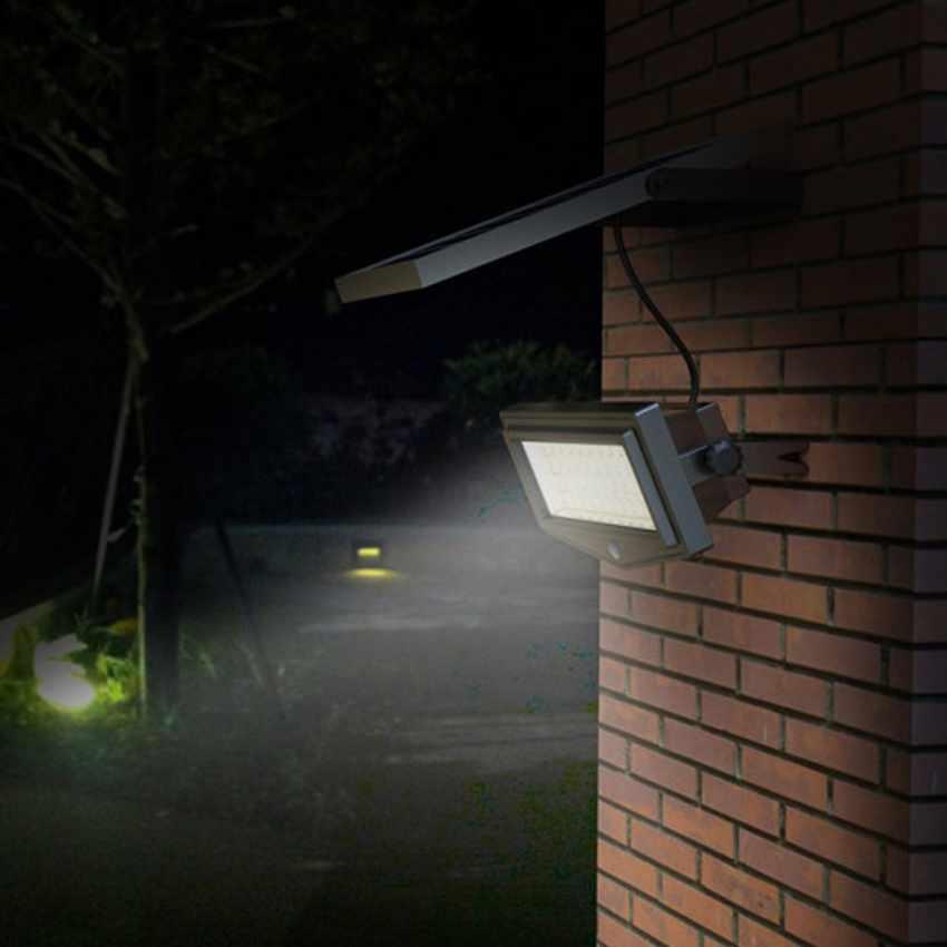 Lampe solaire jardin LED lumière mur extérieurs FLEXIBLE NEW - promo