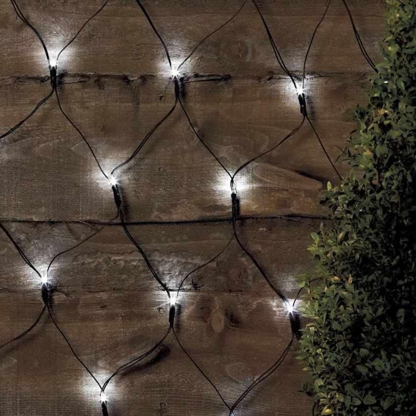 Réseau des lumières de Noël pour l'extérieur de 50 led solaire batterie longue durée de vie panneau - esterno