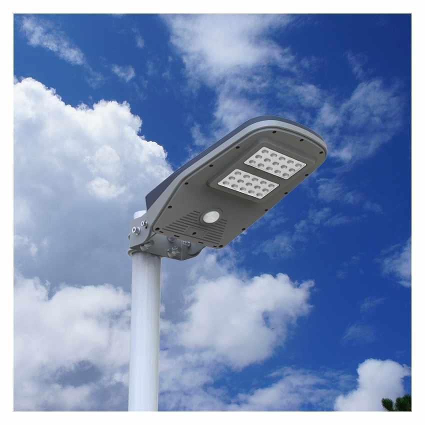 Lampadaire solaire led lampe poteaux d 39 ext rieur avec for Panneau led exterieur