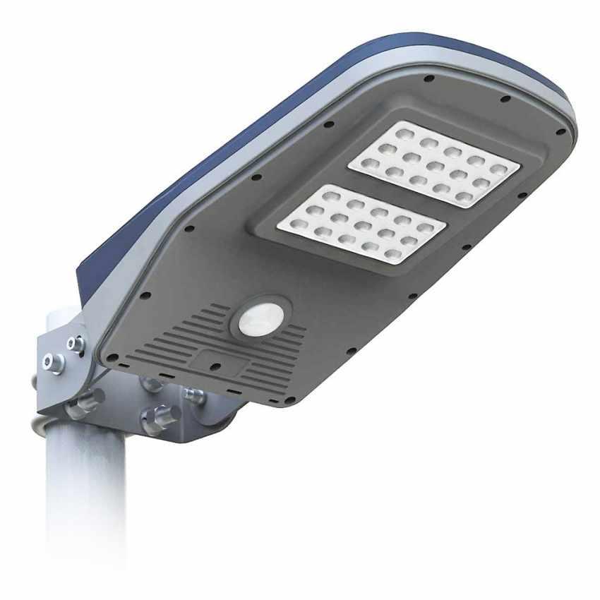 Lampadaire Solaire A Led Lampe Poteaux D Exterieur Avec Panneau