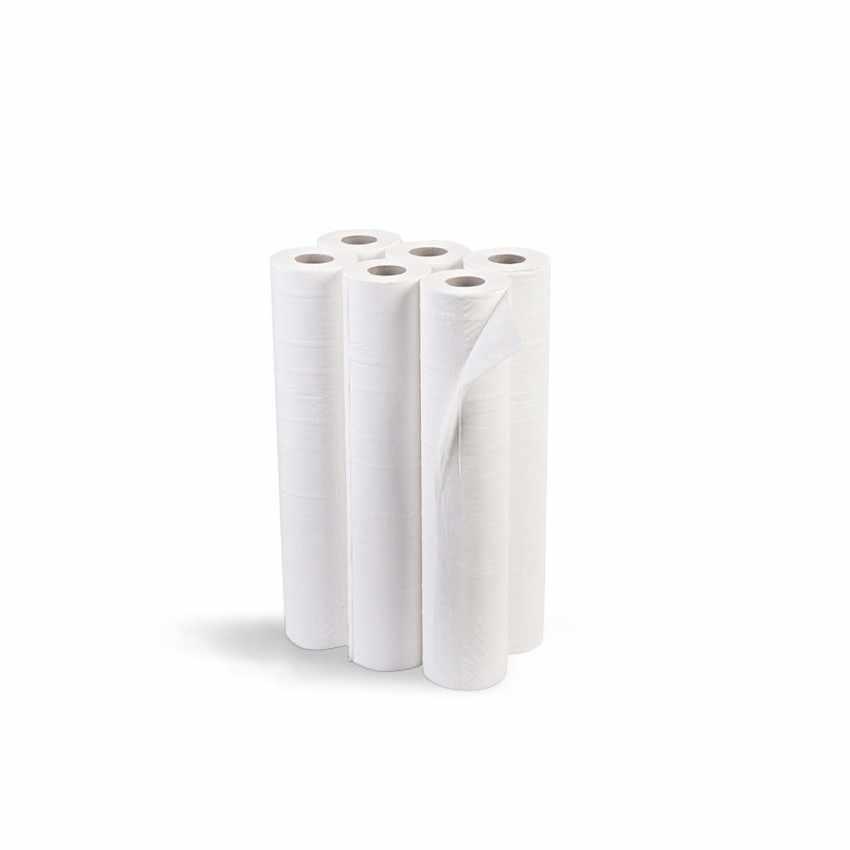 Stock Rouleaux de papier pour table de massage draps médicaux largeur 68 cm offre 6 pcs - dettaglio