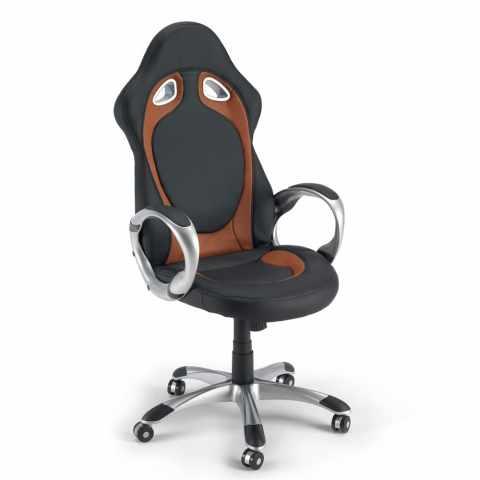 SU130RAC - Chaise de bureau sport fauteuil gamer ergonomique simili cuir RACE - trasparente