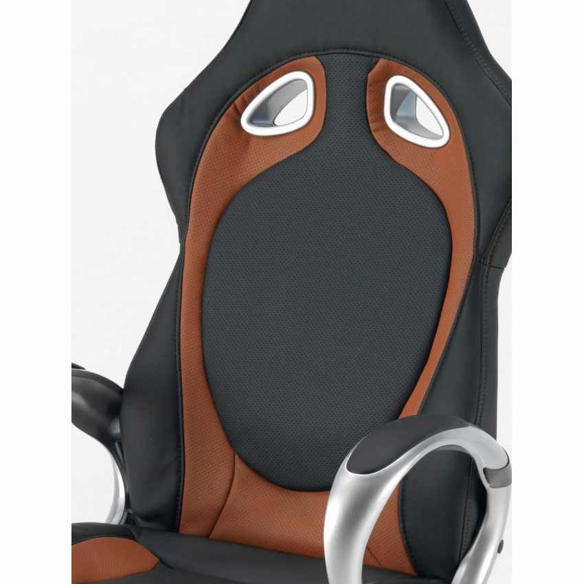 Chaise de bureau sport fauteuil gamer ergonomique simili cuir RACE - immagine