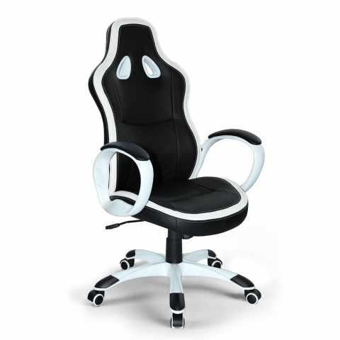 SU035RAC - Chaise de bureau sportif fauteuil gamer ergonomique simili cuir SUPER SPORT - offerta