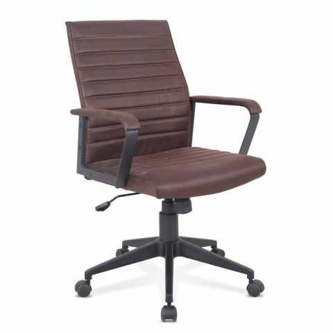 SU001LIN - Chaise de bureau fauteuil siège ergonomique simili cuir LINEAR - strisce