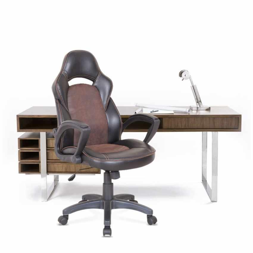 Fateuil De Bureau Ergonomique En Simili Cuir Sport Chaise Gamer Pro