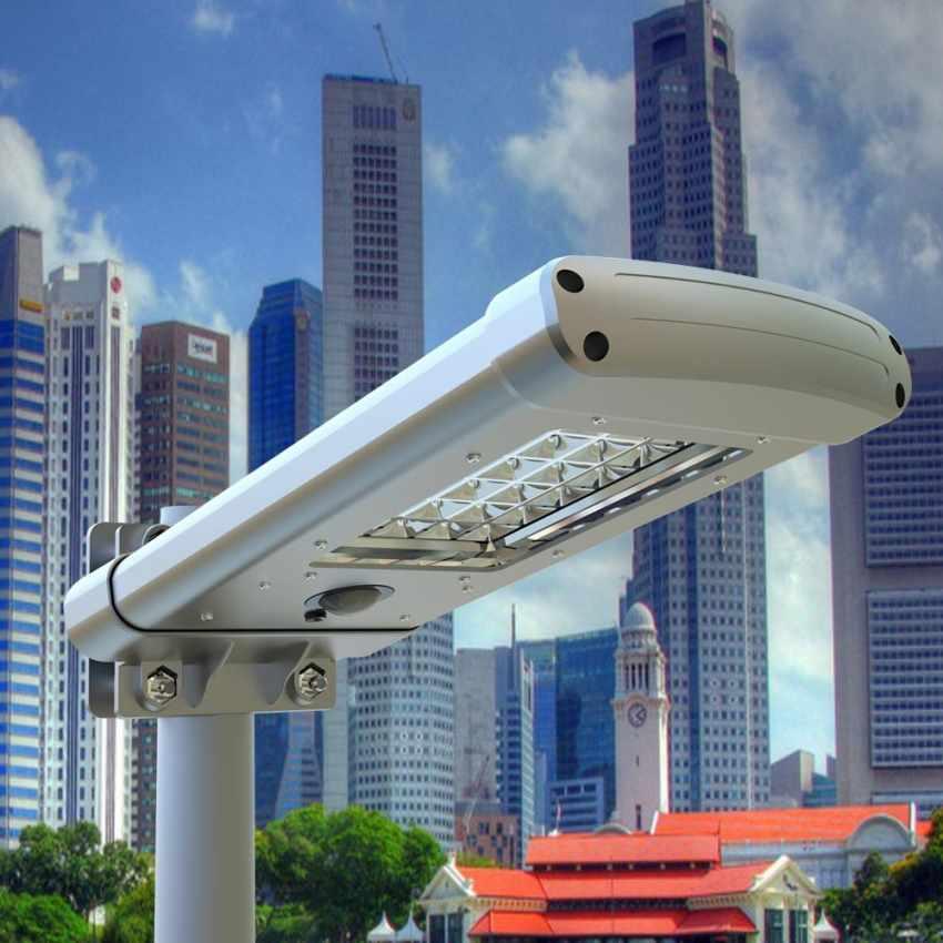 Lampadaire solaire 24 Led pour parc jardin STREET Design - interno