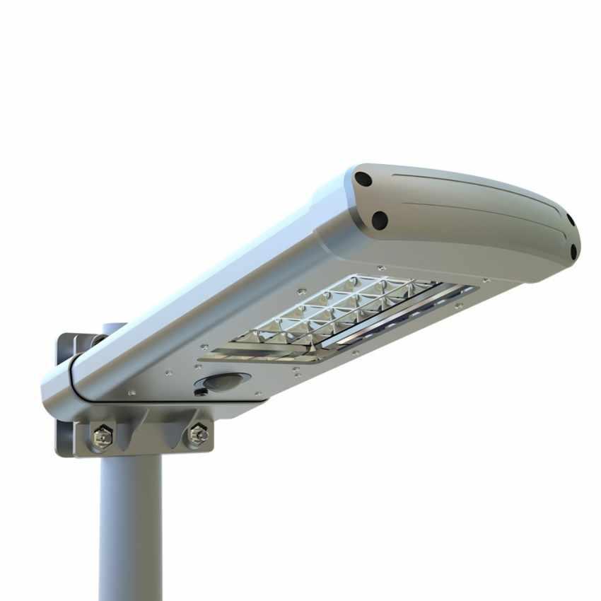 Lampadaire solaire 24 Led pour parc jardin STREET Design - scontato