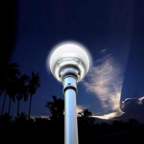 LS120LED - Réverbère solaire LED avec panneau solaire intégré pour les routes Avenues jardins TITANO - colorato
