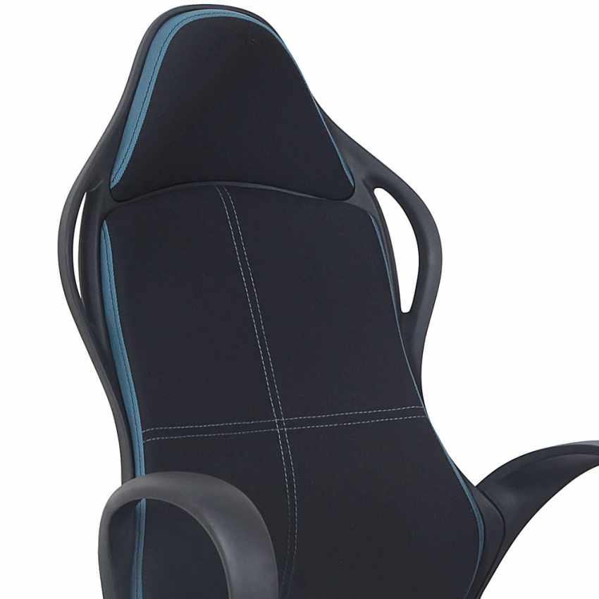 SU108RAC - Chaise de bureau sport fauteuil gamer ergonomique microfibres LOS ANGELES - promozione