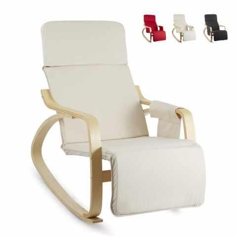 SR2213LEG - Chaise à Bascule en bois ergonomique réglable RELAX - rosso