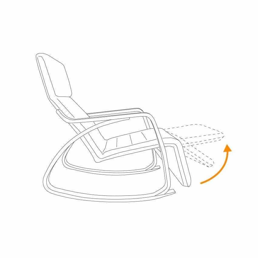 Chaise à Bascule réglable ergonomique en bois RELAX - migliore