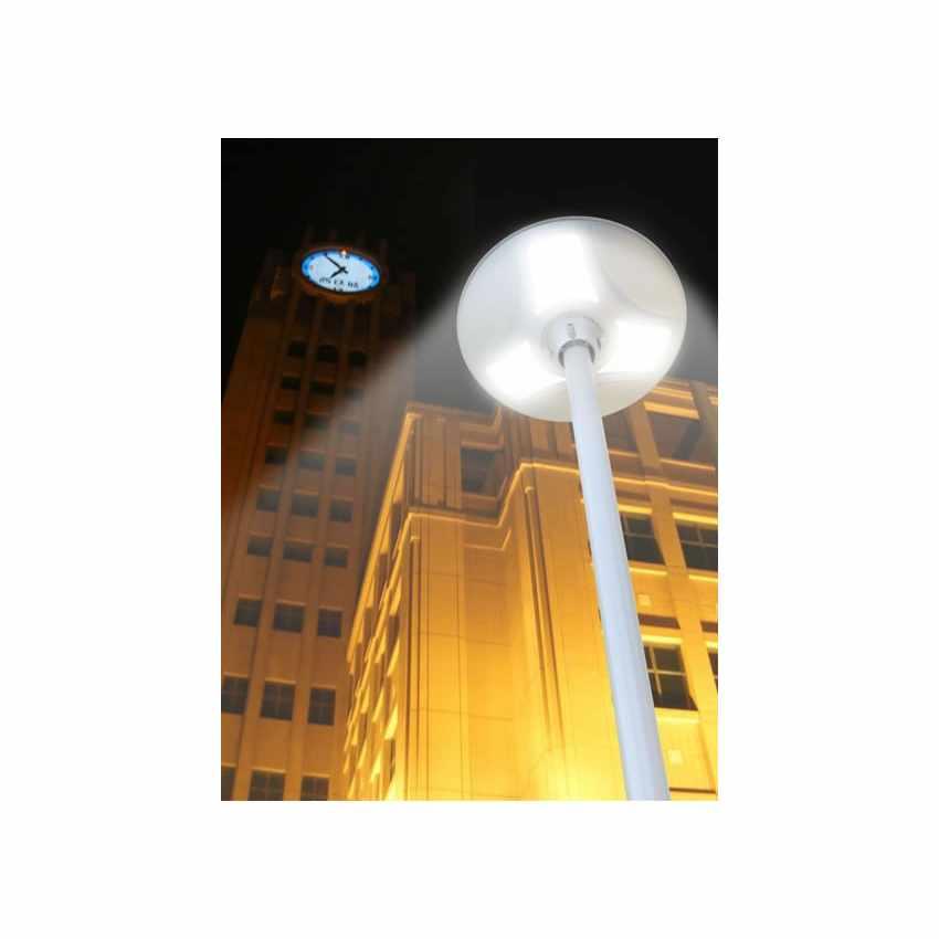Lampadaire led solaire r verb re pour rue jardin place for Lampadaire exterieur rue