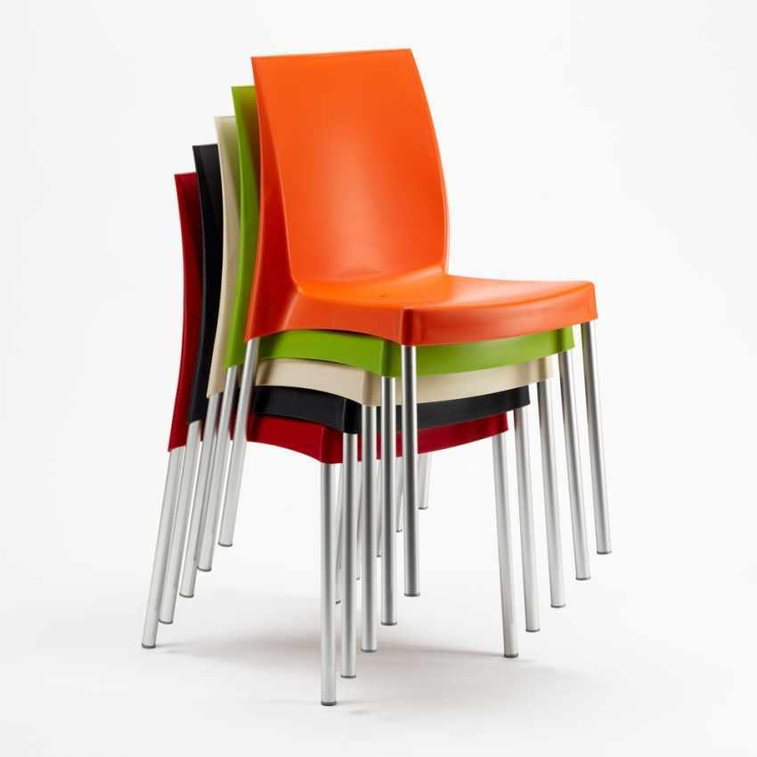 stock 20 chaises grand soleil plastique polypropylene empilables boulevard. Black Bedroom Furniture Sets. Home Design Ideas