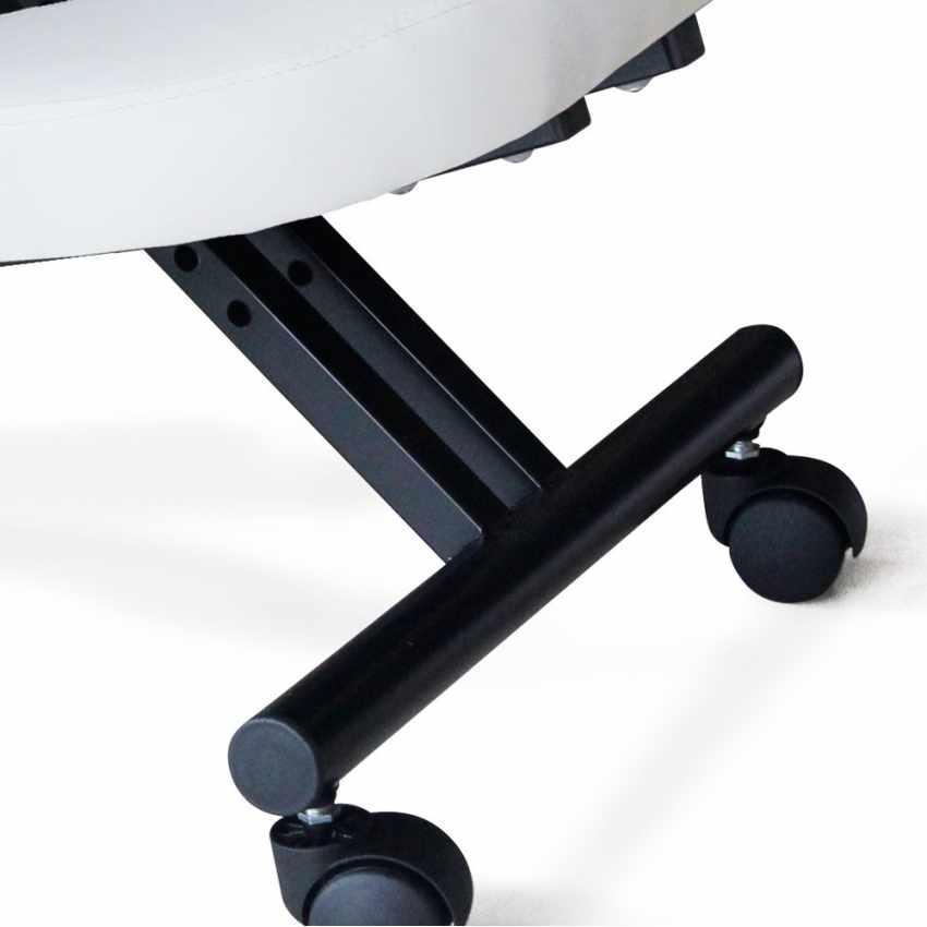 PN100GAS - Chaise orthopédique suèdoise en metal siège ergonomique BALANCESTEEL - beige