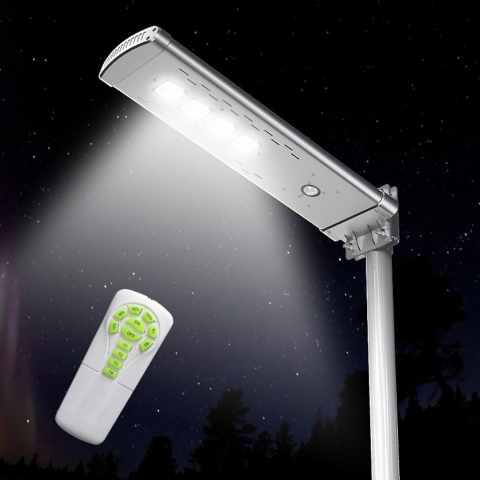 LS050LED - Lampadaire solaire Led 3000 Lumen avec télécommande SMART OPTIUM - promozione