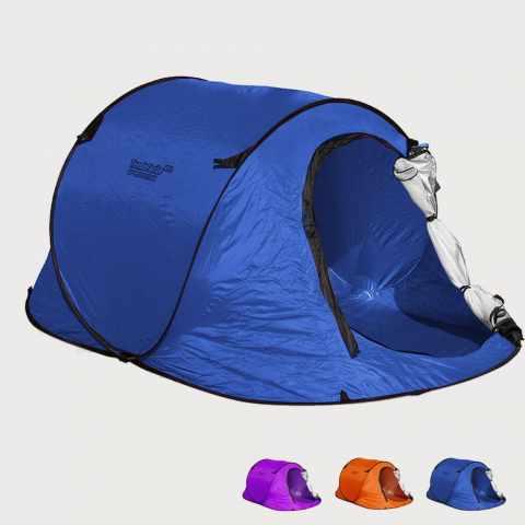 TF240UV - Tente de plage 2 sièges abri solaire mer camping protection uv TENDAFACILE XXL - blu