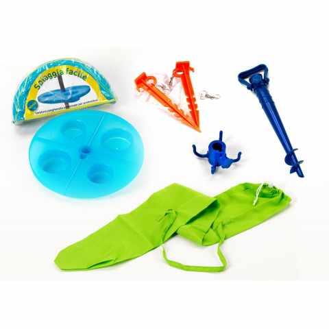 AC003FAC - Kit accessoires de plage sac parasol table piquets SPIAGGIAFACILE - outlet