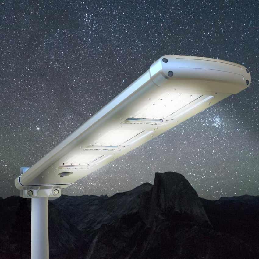 Lampadaire tracklight 3000 lumen 72 led panneau solaire for Lampadaire exterieur rue