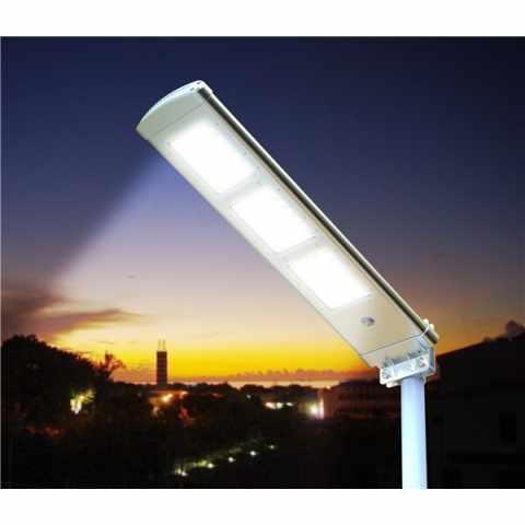 LS072LED - Lampadaire solaire LED 3000 Lumen avec panneau solair pour route jardin parkings HIGHWAY - basso prezzo