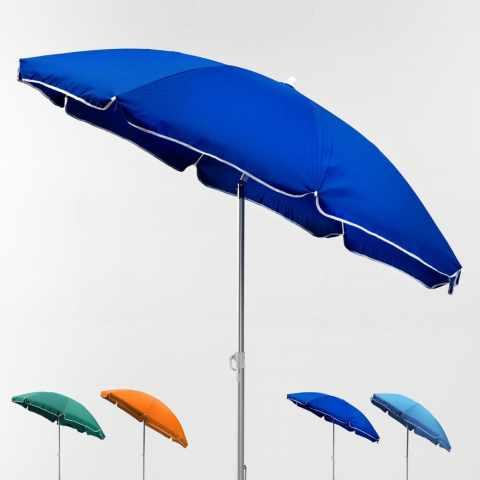 LI180POL - Parasol de plage aluminium portable leger 180 cm LIGNANO - retro