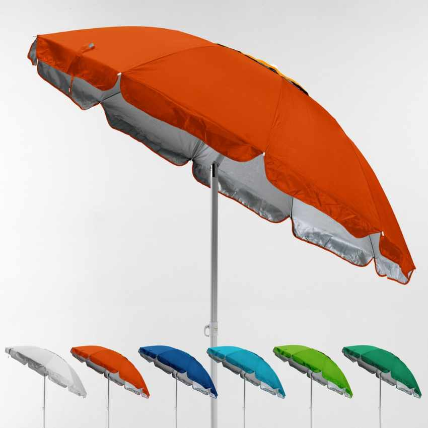 parasol de plage avec antivent protection uv 220 cm portofino. Black Bedroom Furniture Sets. Home Design Ideas