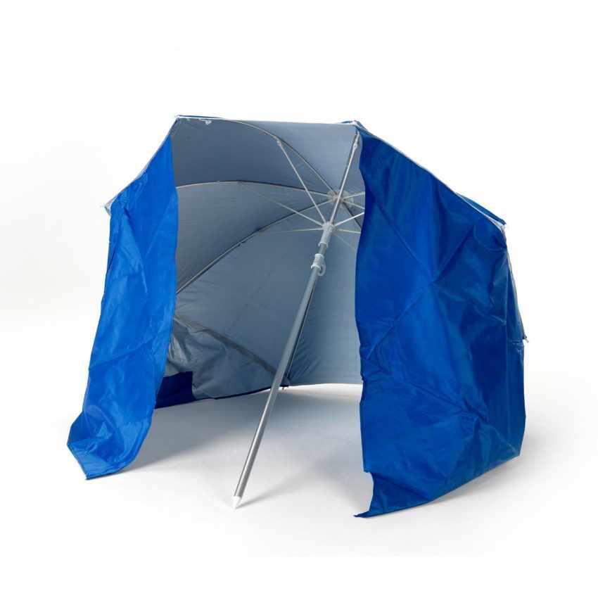 PI160UVA - Parasol de plage pliable portable leger aluminium tente 160 cm  PIUMA - crema