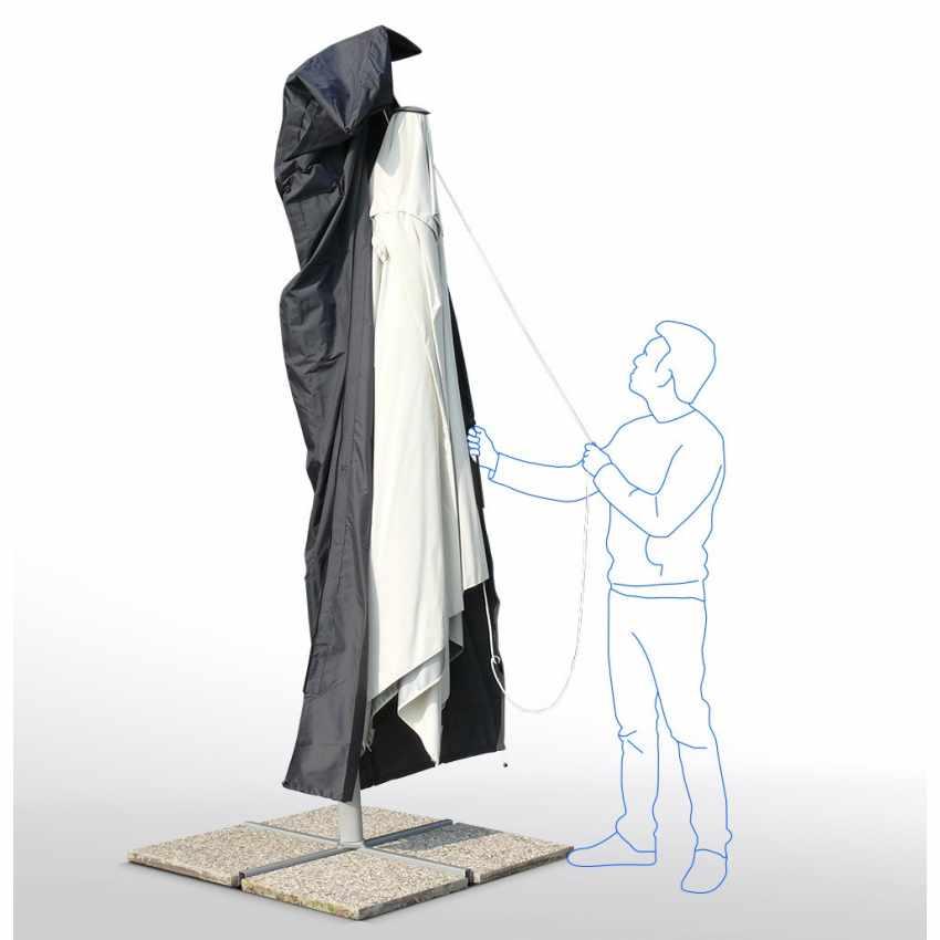 Housse pour parasol de jardin sac parasol grande taille - Parasol grande taille ...