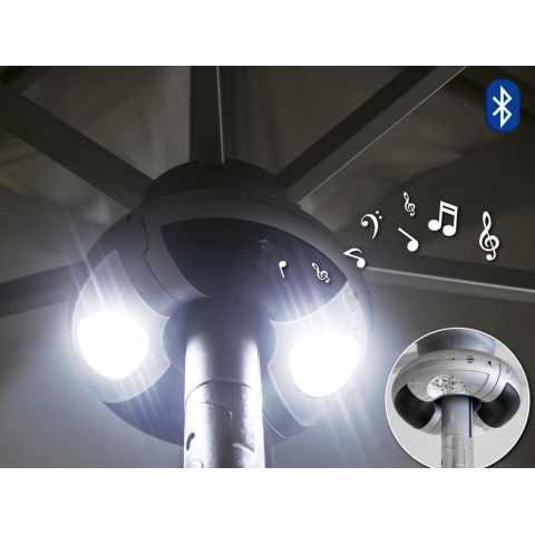 AC100MUS - Lecteur musique bluetooth lumière LED pour parasols WORLDMUSIC - blu