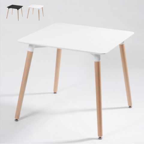 DSW Eamess DAW Table carré en bois et polypropylène 80x80 bar - migliore 0250b776ccc0