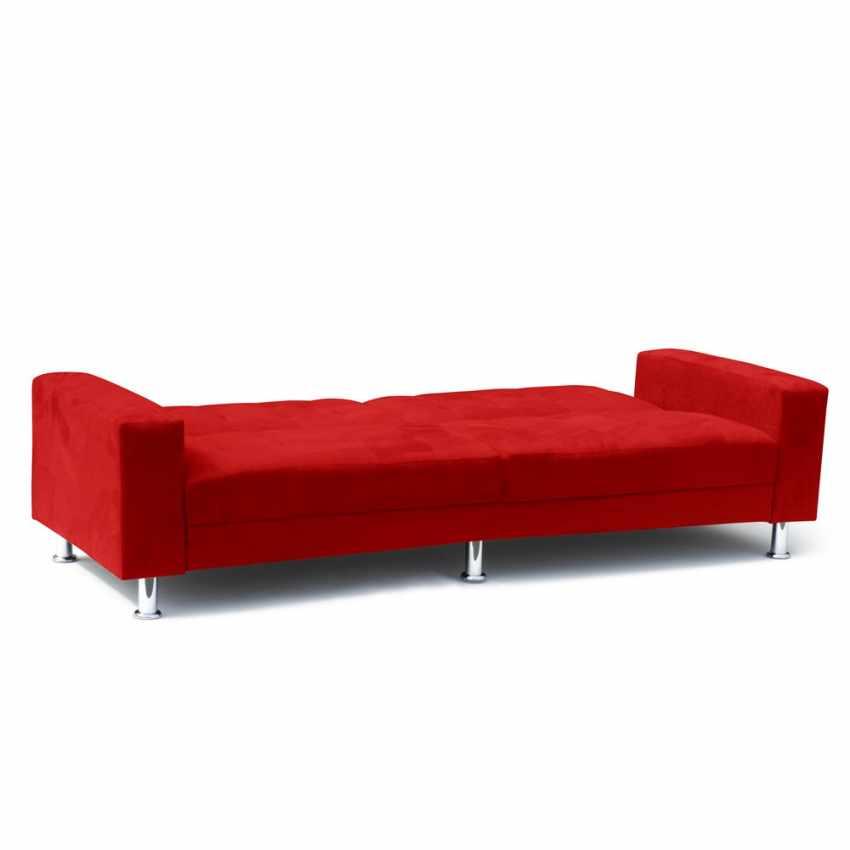Canapé-lit double 2 3 places avec dossier inclinable et coussins QUARZO - offerta