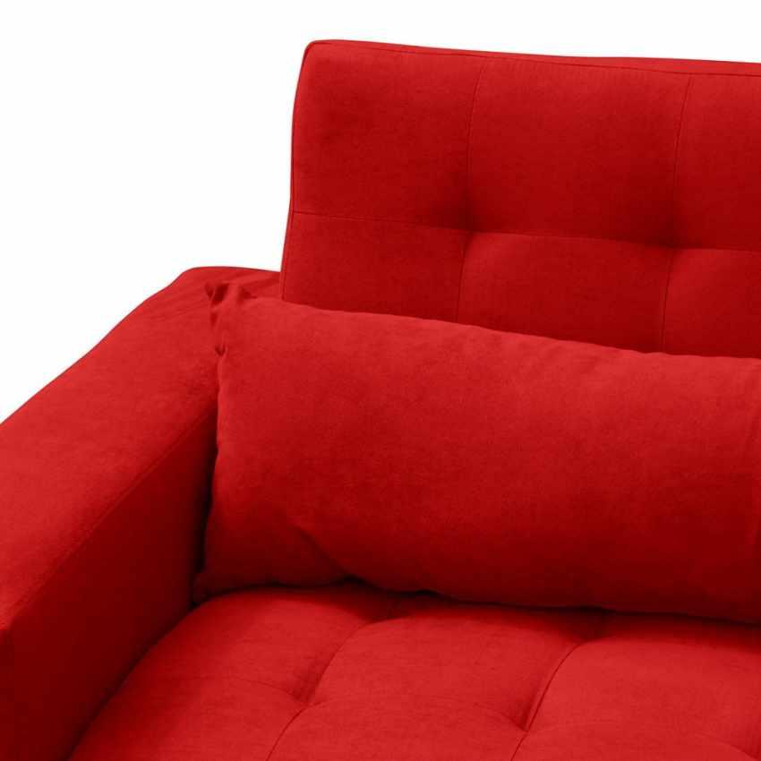 Canap lit double 2 3 places avec dossier inclinable et coussins quarzo - Coussins dossier canape ikea ...