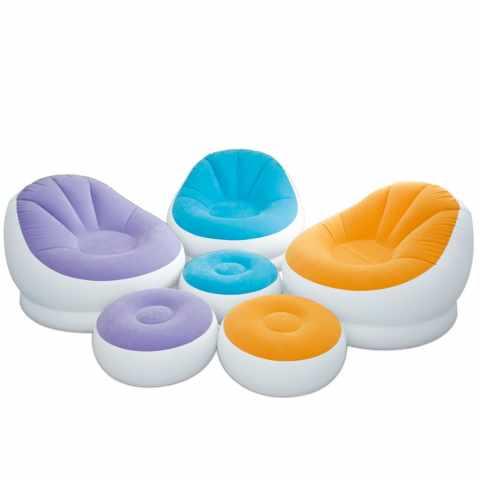 68572 - Fauteuil pouf repose-pieds gonflable Intex 68572 salons et séjours - colorato